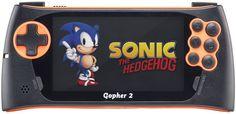 Портативная игровая консоль Sega Genesis Gopher 2 + 500 игр (черно-оранжевый)
