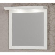 Зеркало Opadiris Мираж 80 с козырьком и подсветкой, слоновая кость 1013 (Z0000012519 + Z0000012521)