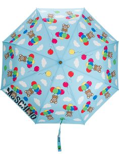 Moschino зонт с принтом Teddy