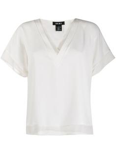 DKNY многослойная блузка с V-образным вырезом