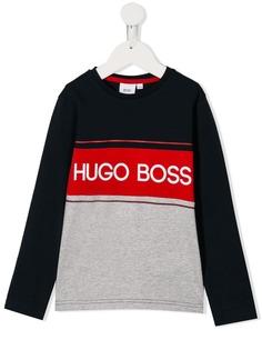 Boss Kids футболка с длинными рукавами и логотипом