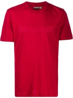 Napapijri футболка с контрастным логотипом