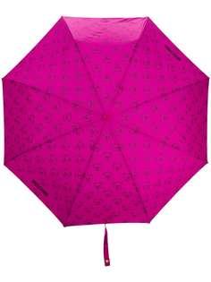Moschino зонт с узором Teddy Bear