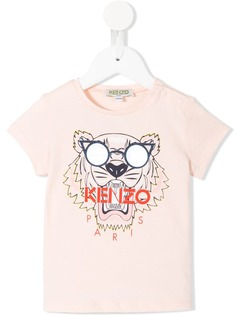 Kenzo Kids футболка с принтом тигра