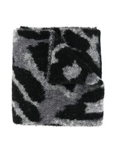 Stella McCartney Kids шарф с леопардовым принтом