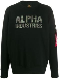 Alpha Industries толстовка с логотипом