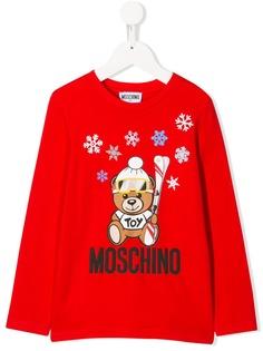 Moschino Kids футболка Teddy Bear с длинными рукавами
