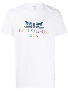 Levis футболка с вышитым логотипом