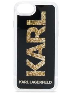 Karl Lagerfeld чехол для iPhone 8 с блестками