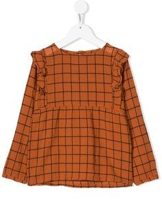 Emile Et Ida клетчатая блузка с оборками