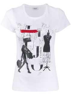 LIU JO футболка с принтом Tabloid