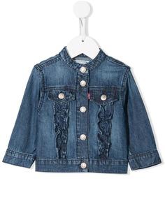 Levis Kids джинсовая куртка с оборками