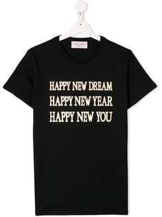 Alberta Ferretti Kids футболка Happy New You
