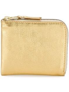 Comme Des Garçons Wallet бумажник на молнии с отделкой металлик