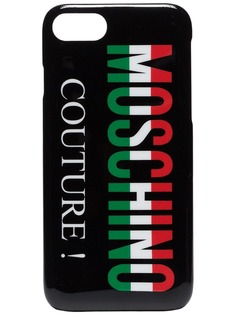 Moschino чехол для iPhone 8 с принтом логотипа