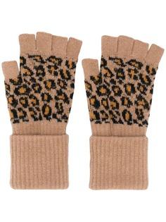 Paul Smith перчатки с леопардовым принтом