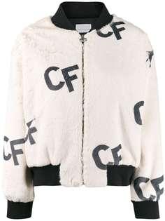 Chiara Ferragni куртка-бомбер с принтом CF
