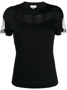 Escada Sport футболка с кружевными вставками