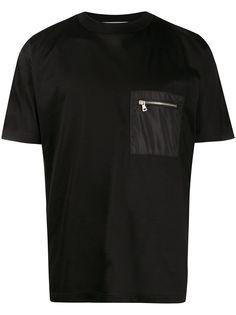Low Brand футболка с карманом на молнии