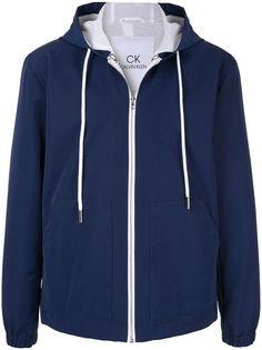 CK Calvin Klein куртка с капюшоном и контрастной отделкой