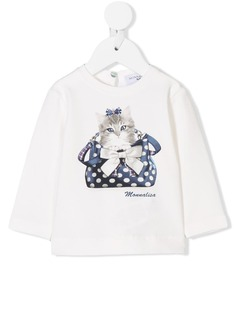 Monnalisa футболка с принтом