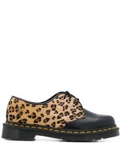 Dr. Martens туфли с леопардовым принтом