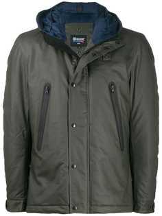 Blauer вощеная куртка