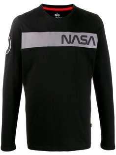 Alpha Industries футболка NASA с логотипом