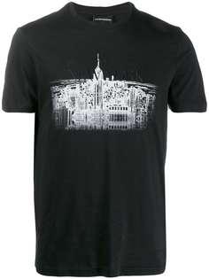 Emporio Armani футболка New York Skyline