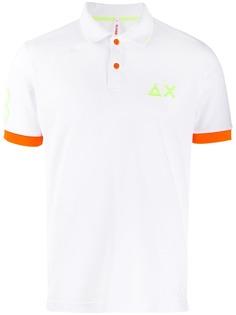 Sun 68 рубашка-поло с контрастной отделкой