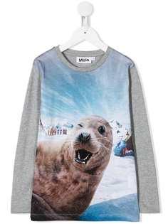 Molo Kids топ с длинными рукавами и принтом Seal