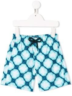 Vilebrequin Kids плавки-шорты с геометричным принтом
