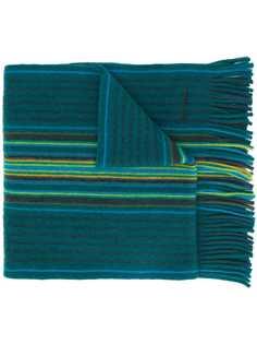 Paul Smith полосатый шарф тонкой вязки