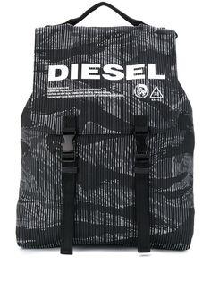 Diesel камуфляжный джинсовый рюкзак с пряжками