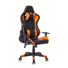 Кресло игровое БЮРОКРАТ СН-788, на колесиках, искусственная кожа [сн-788/bl+or]