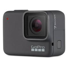 Экшн-камера GOPRO HERO7 Silver Edition 4K, WiFi, серый [chdhc-601-le]