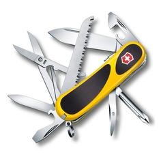 Складной нож VICTORINOX EvoGrip S18, 15 функций, 85мм, желтый / черный