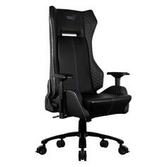 Кресло игровое AEROCOOL P7-GC1 AIR RGB, на колесиках, ПВХ/полиуретан, черный [512971]