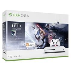 Игровая консоль MICROSOFT Xbox One S с 1 ТБ памяти, игрой: Star Wars Jedi Fallen Order, 234-01099, белый