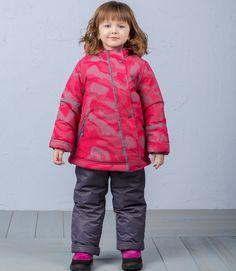 Комплект куртка/полукомбинезон Аврора Радуга, цвет: малиновый/серый Avrora