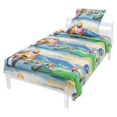 Комплект постельного белья Leader Kids Мотоциклисты, цвет: синий 4 предмета
