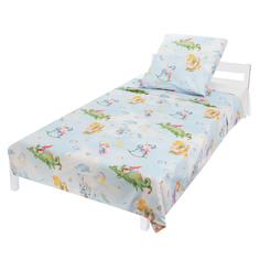 Комплект постельного белья Leader Kids, цвет: голубой 4 предмета