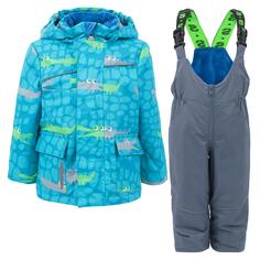 Комплект куртк/полукомбинезон StellaS Kids Crocodiles, цвет: голубой