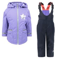 Комплект куртк/полукомбинезон StellaS Kids Спорт, цвет: сиреневый