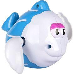 Игрушка Игруша Рыбка заводной механизм цвет: голубой, 12 см