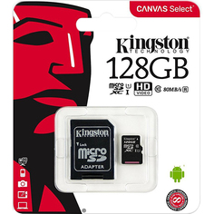 Карта памяти Kingston Canvas Select MicroSD 128GB Class 10
