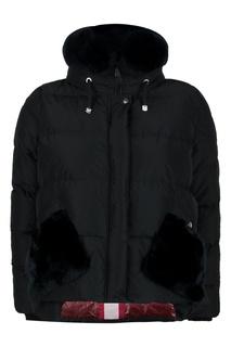 Черная куртка с мехом Diego M