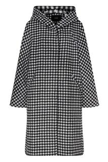 Клетчатое пальто с капюшоном Maje