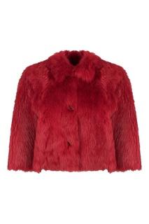 Короткое красное двустороннее пальто Red Valentino
