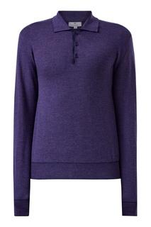 Фиолетовый джемпер с отложным воротником Canali